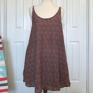 L TigerLily Red Paisley Sun Dress Size